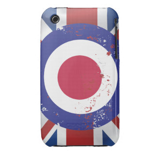 Weathered Mod Target on silk effect Union Jack iPhone 3 Case-Mate Cases