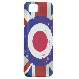 Weathered Mod Target on silk effect Union Jack iPhone 5 Case