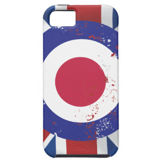 Weathered Mod Target on silk effect Union Jack iPhone 5 Cover