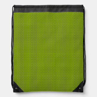 Weave - Fluorescent Yellow Drawstring Bags