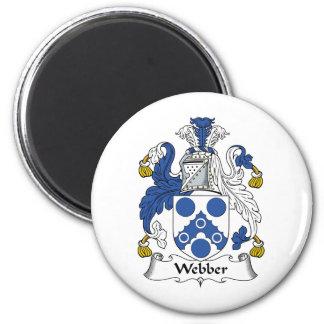 Webber Family Crest 6 Cm Round Magnet