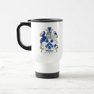 Webber Family Crest Stainless Steel Travel Mug