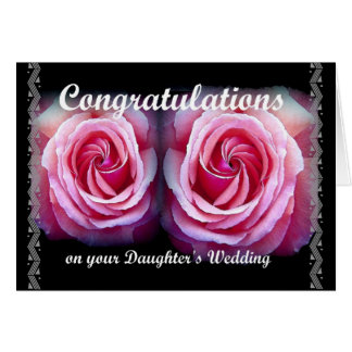 Wedding Congratulations on Your Daughter's Wedding Greeting Card