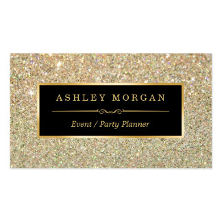 Wedding Event Planner - Sassy Beauty Gold Glitter Pack Of Standard Business Cards