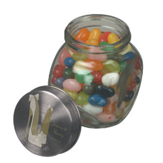Wedding Favour Jelly Bean Jar Gifts Glass Candy Jars