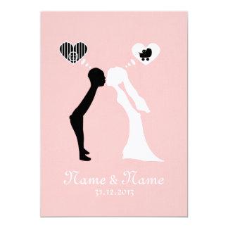 Wedding invitation: Kiss into the common future 13 Cm X 18 Cm Invitation Card