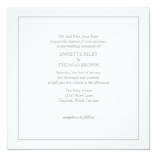 Wedding Invitation | Simply |wgry