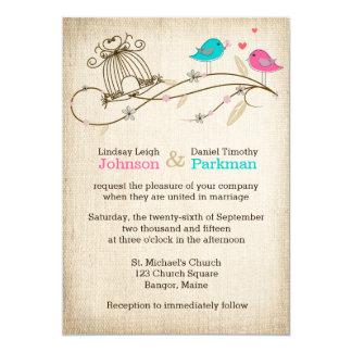 Wedding Invitation | Whimsical Birds in Love