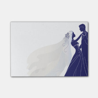 Wedding Notes W/ Bride & Groom 2 - Notes Post-it® Notes