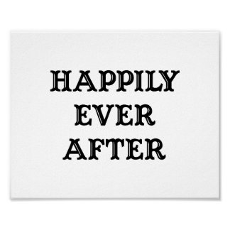 """Wedding photo prop sign """"Happily Ever After"""" Poster"""