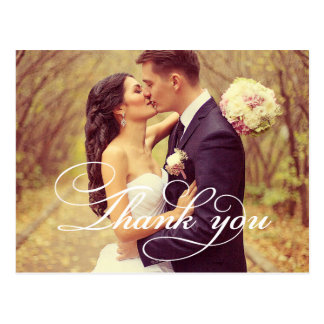 Wedding Photo Thank You Note Cards | Postcard