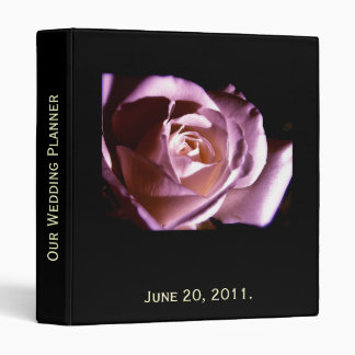 Wedding Planner Purple Rose Photo and Quote Binder