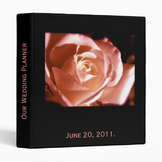 Wedding Planner Rose Photo and Love Quote Binder