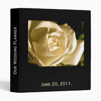 Wedding Planner Rose Photo and Quote Binder