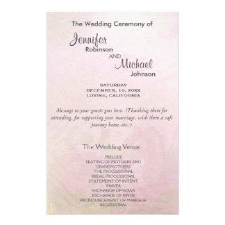 Wedding Program | Pink Pearl 14 Cm X 21.5 Cm Flyer