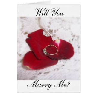 Wedding Proposal Card Will You Marry Me? Ring