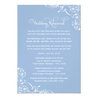 Wedding Rehearsal and Dinner Invitations | Blue
