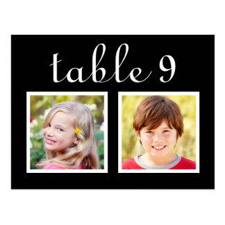 Wedding Table Number Cards | Bride + Groom Photos Postcard