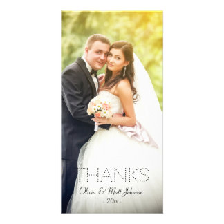 Wedding Thanks Photo Card