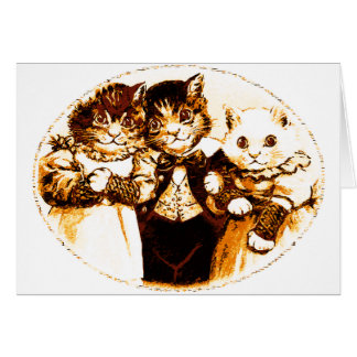 Wee Three Cats Greeting Card