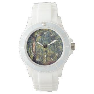 Weeping Willow by Claude Monet, Vintage Fine Art Wrist Watch