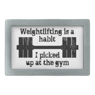 Weightlifting Habit Rectangular Belt Buckles