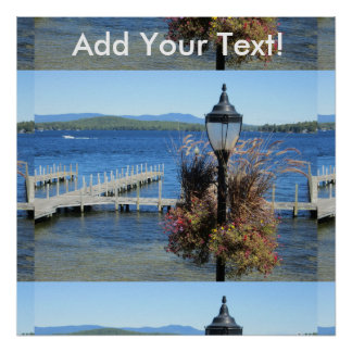 Weirs Beach Dock Lamp Poster