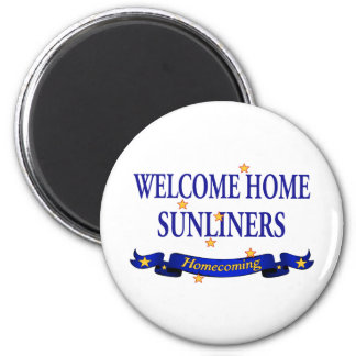 Welcome Home Sunliners 6 Cm Round Magnet