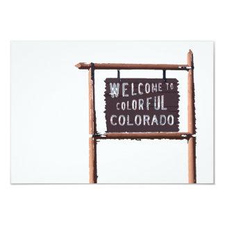 welcome to colorful colorado 9 cm x 13 cm invitation card