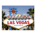 Welcome to Fabulous Las Vegas Nevada Sign Postcard