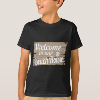 welcome to our beach house tee shirts
