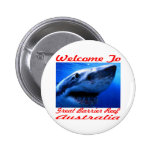 Welcome To The Great Barrier Reef Shark 6 Cm Round Badge
