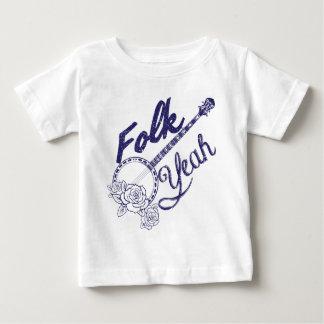 Wellcoda Folk Yeah Music Funny Banjo Rose Shirt