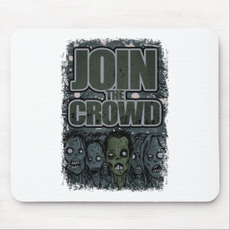 Wellcoda Zombie Monster Crowd Dead Scary Mouse Pad