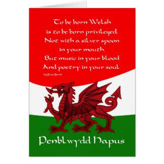 Welsh Dragon Birthday Card - Poem by Brian Harris