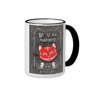 """""""We're All Mad Here"""" Cheshire Cat Mug"""
