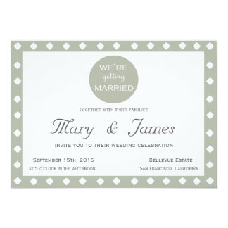 """WE'RE GETTING MARRIED"" (horizontal) 13 Cm X 18 Cm Invitation Card"