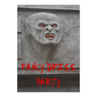 Werewolf Horror  Characters Party Invitation