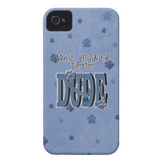 West Highland Terrier DUDE iPhone 4 Case-Mate Cases