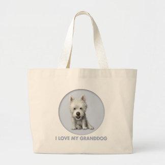 West Highland Terrier Granddog Jumbo Tote Bag
