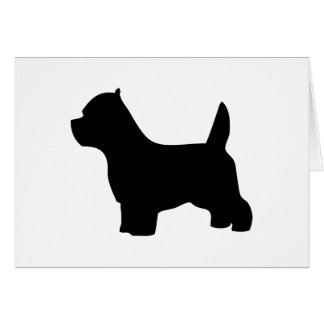 West Highland White Terrier dog blank note card