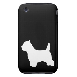 West Highland White Terrier dog, westie silhouette iPhone 3 Tough Case