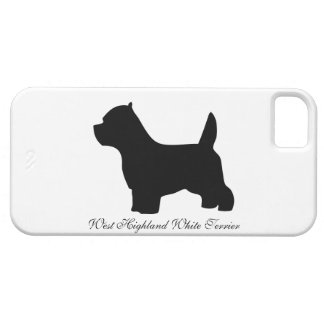 West Highland White Terrier dog, westie silhouette iPhone 5 Cover