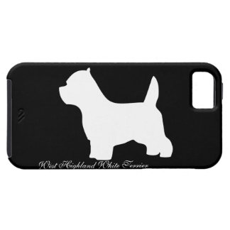 West Highland White Terrier dog, westie silhouette iPhone 5 Covers