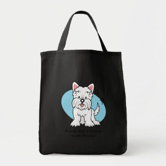 West Highland White Terrier Gifts and Merchandise Grocery Tote Bag