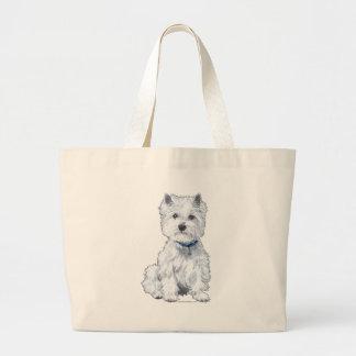 West Highland White Terrier Jumbo Tote Bag