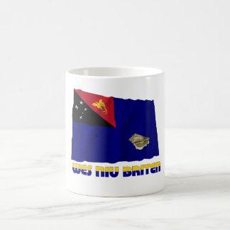 West New Britain Province Waving Flag Basic White Mug