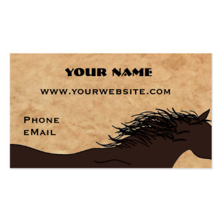 Western Horse Silhouette Business Cards