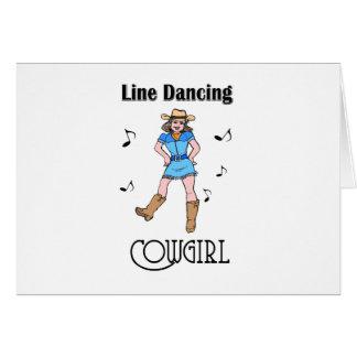 "Western ""Line Dancing Cowgirl"" Greeting Card"