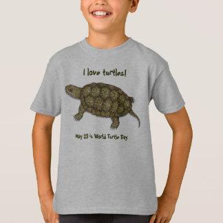 Western Pond Turtle Tee Shirts